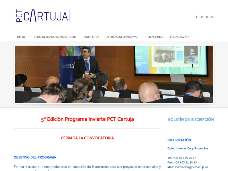 Images from V Programa Invierte PCT Cartuja