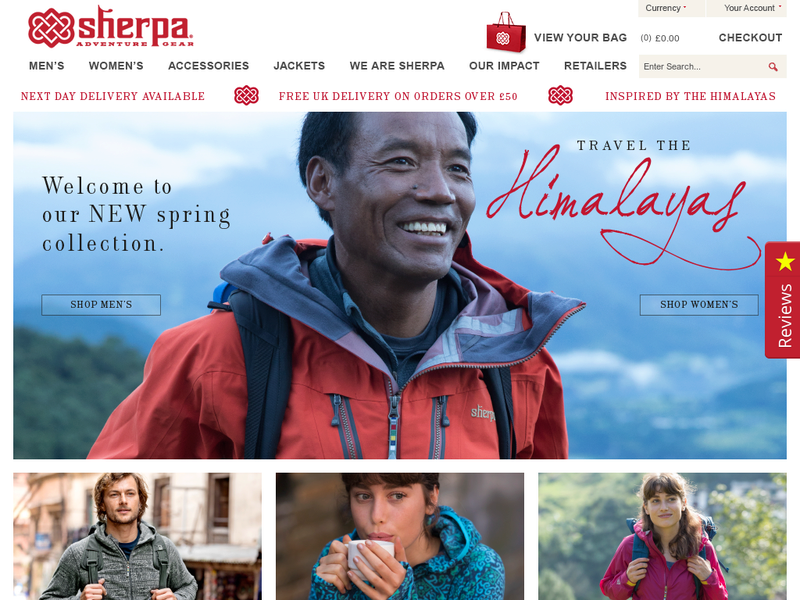Images from Sherpa Adventure Gear